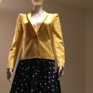 New ZARA yellow blazer/jacket + skirt